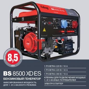 Бензиновая электростанция FUBAG BS 8500 XD ES